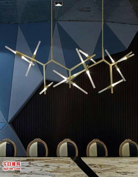 意大利设计roll hill 北欧创意人字灯 树杈吊灯树枝树