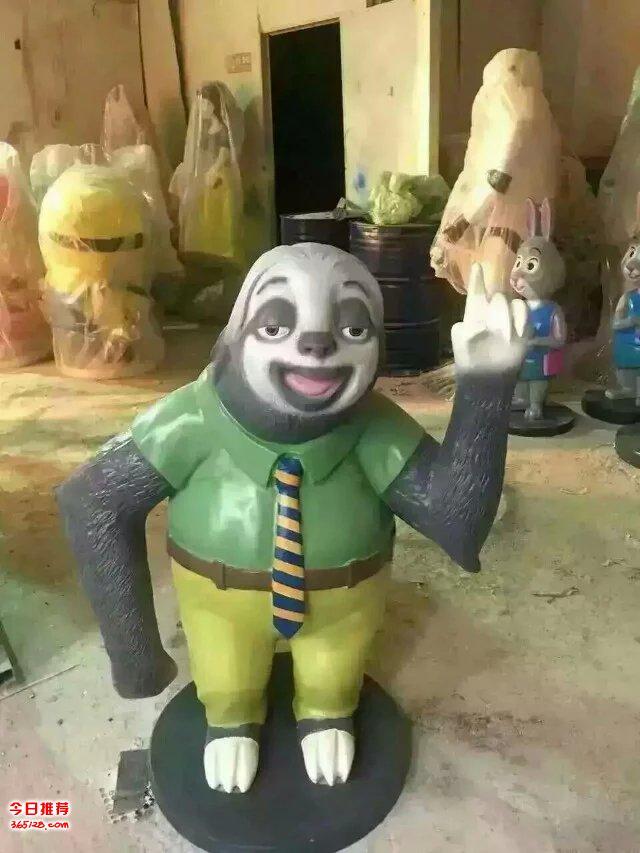 疯狂动物城人物树懒狐狸出租恐龙展卡通雕塑展览租赁