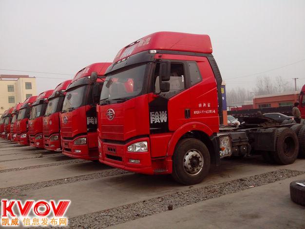 梁山二手牵引车市场新进一批2011年二手解放j6双驱牵引头常年