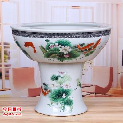庭院老式大水缸大号储水缸荷花缸睡莲缸 无铅家用陶瓷水缸养鱼