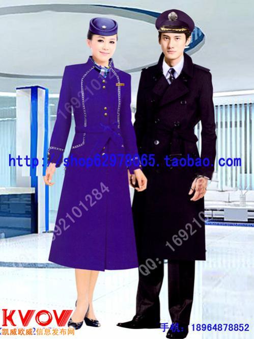 13年新款空姐厚呢子大衣訂做 酒店迎賓大衣 毛呢大衣