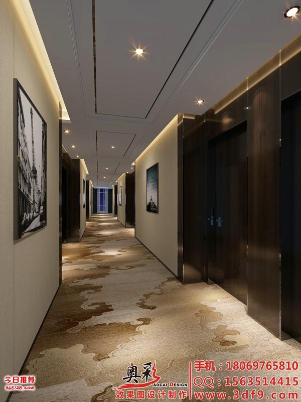 杭州办公楼大厅效果图制作,过道效果图设计制作,效果图制作