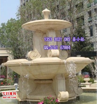 花园流水欧式仿砂岩喷泉 人造砂岩水池雕塑 别墅庭院装饰砂岩喷泉