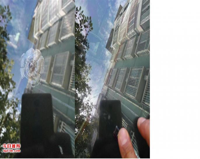 八月十六号郑州神手汽车前挡风玻璃炸花破损修复工作日志