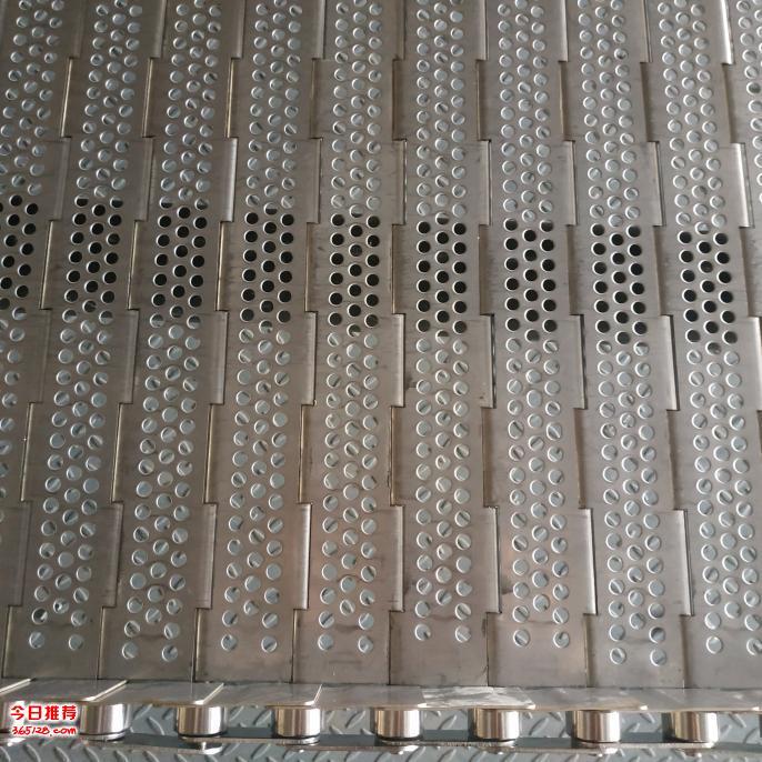 批发食品输送不锈钢链板 金属镀锌输送链板定制冲孔链板