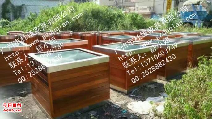 不锈钢组合户外花箱价格,防腐木钢木花槽图片徐汇区树池坐凳座椅图片