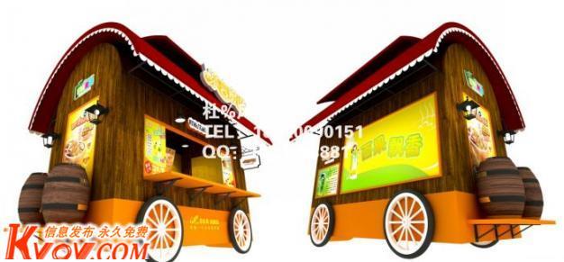 供应海南流动售货亭,景区售货亭,移动售货亭,外卖车,木制