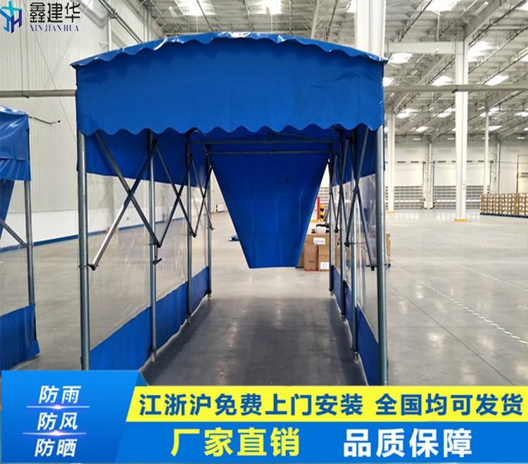 厂家定制单边排水推拉篷/户外遮阳带轮子伸缩雨棚/餐馆推拉蓬