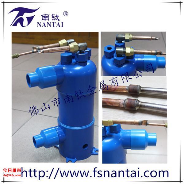 厂家供应壳管式换热器 加工定制各种规格泳池钛炮 钛螺纹换热