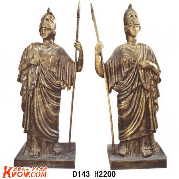 选购指南  欧式人物雕塑 罗马武士雕塑 广东广州玻璃钢雕塑  供应广东