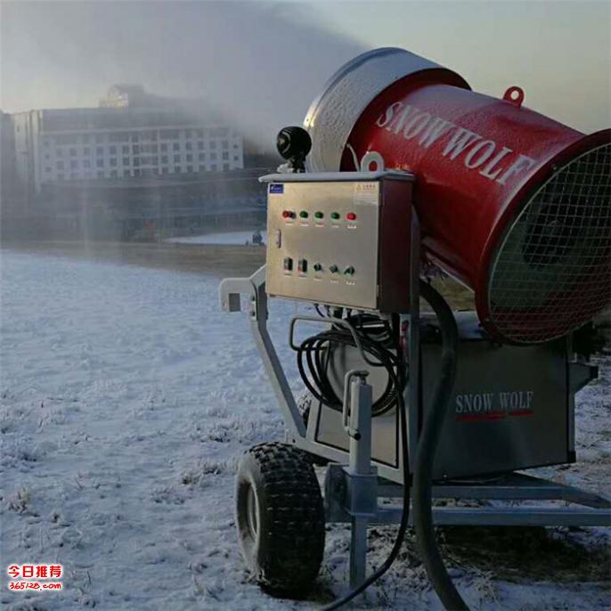 供应国产人工造雪机价格可旋转出雪的造雪设备
