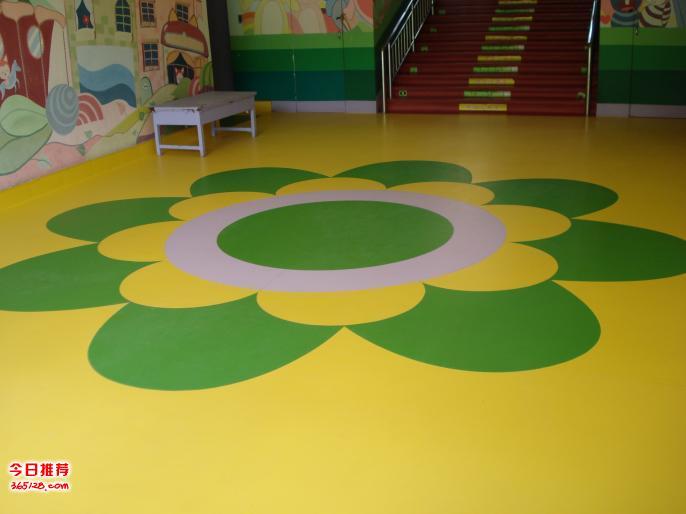 濟南幼兒園塑膠地板施工批發卡通純色塑膠地板