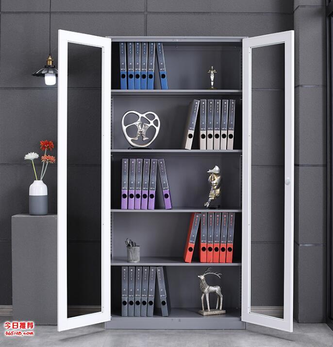 文件柜鐵皮柜 鋼制辦公柜員工儲物更衣柜玻璃門檔案柜資料柜子