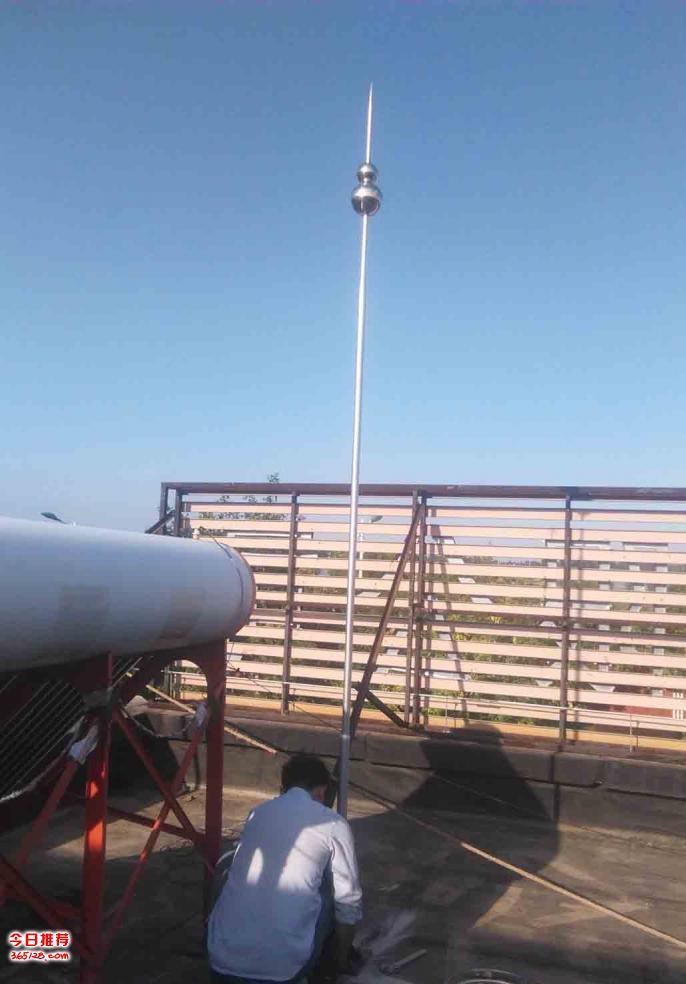 三河高楼镇学校房屋安装避雷针工业厂房避雷带安装施工