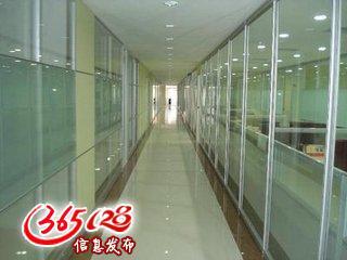北京大兴区钢化玻璃门窗制作 办公室玻璃隔断 不锈钢玻璃门