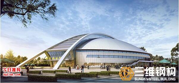 山東體育場館加工出口廠家-三維鋼構