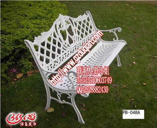 欧式铸铁长椅,白色影楼座椅