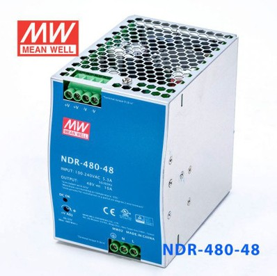 480W台湾明纬导轨电源NDR-480-48,48V 10A输出工业半导体设备