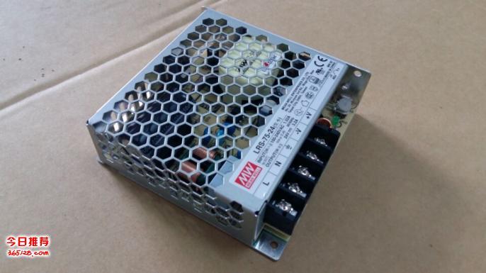 臺灣明緯開關電源LRS-75-24,24V 75W工業系統控制電源