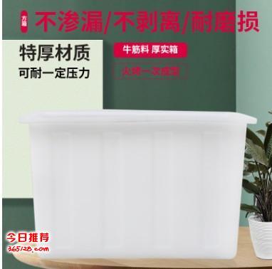 塑料方箱 120L牛筋水箱养殖箱 可定制收纳箱储物箱