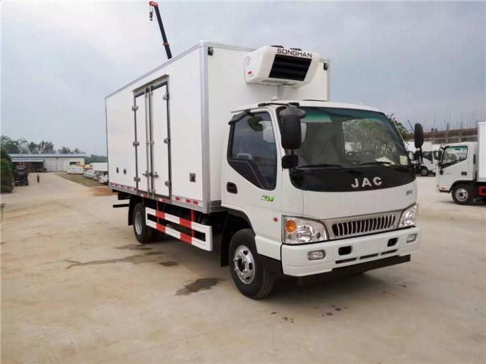 双开侧门江淮骏铃5.2米冷藏车出售,一辆多少钱便宜卖