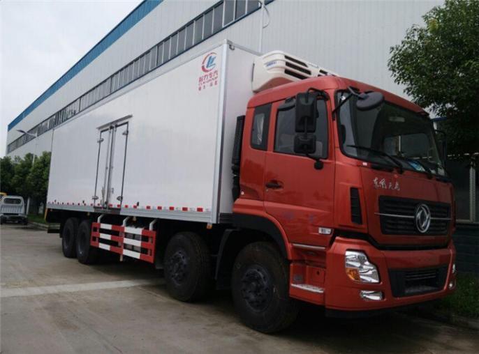 东风天龙前四后八冷藏车,24吨长途运输冷冻车出售