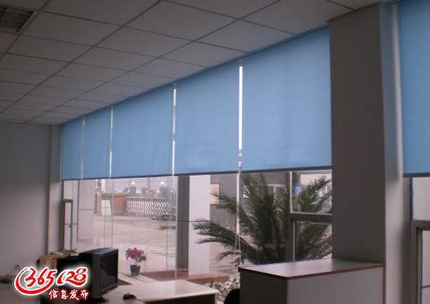 北京办公室窗帘遮光卷帘喷绘窗帘公司百叶帘酒店布艺窗帘餐厅