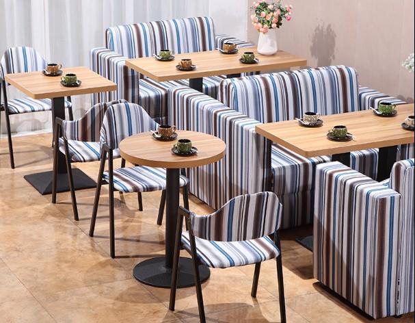 西餐厅 咖啡厅 奶茶店 甜品店 快餐店小吃茶餐厅卡座沙发桌椅组合图片