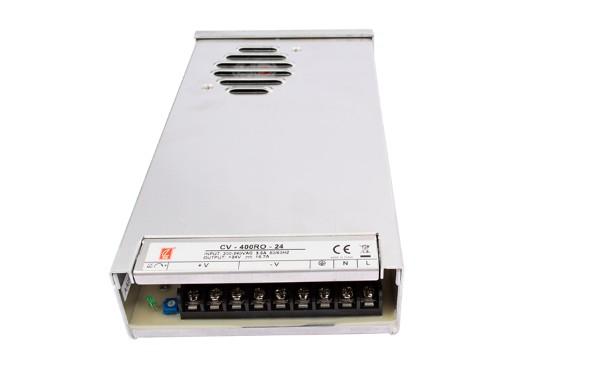 创联防雨电源CV-400RO-24,24V 400W半灌胶户外LED标识电源
