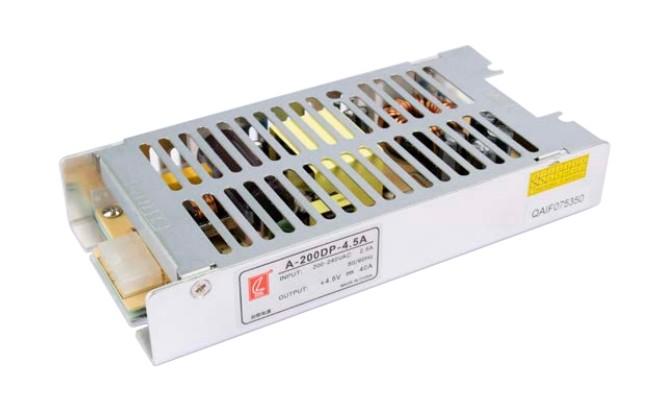 常州创联超薄显示屏电源A-200DP-4.5,4.5V40A 200W, 效率高