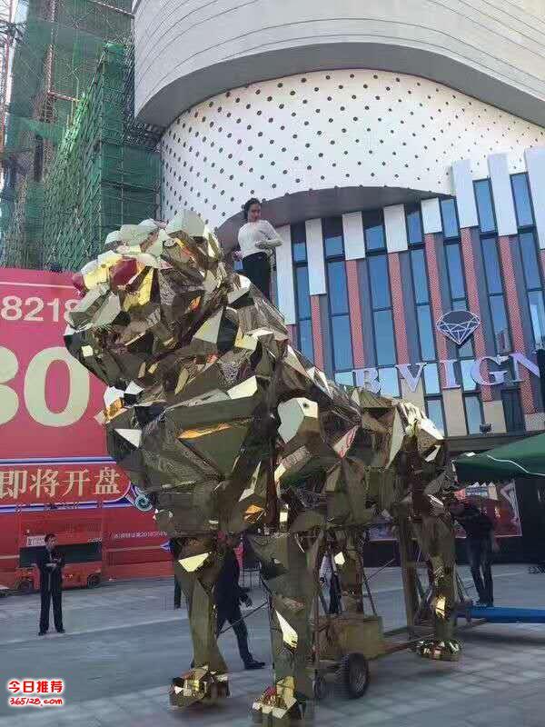 长9米5高5米5镜面金狮商演道具出租出售