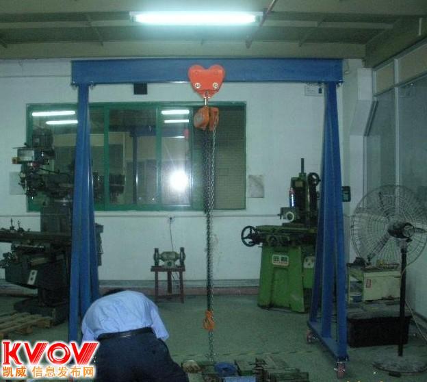 中山3吨移动龙门吊架,广州简易龙门吊架价格