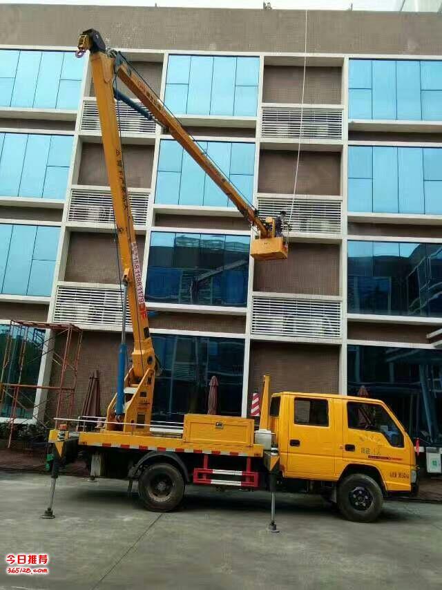 高空广告安装、外墙刷白翻新、珠海市高空升降车出租服务公司