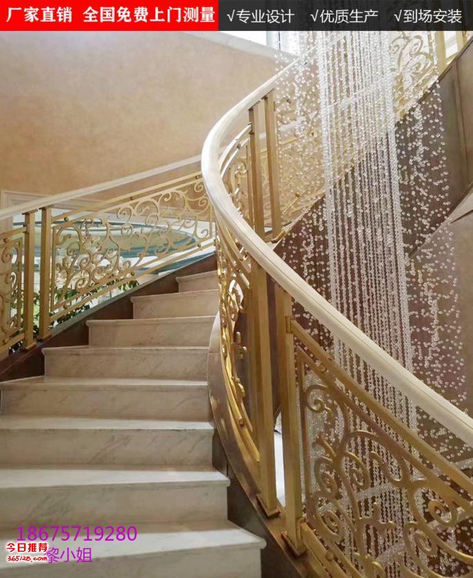 单跑楼梯旋转楼梯双跑楼梯雕花护栏