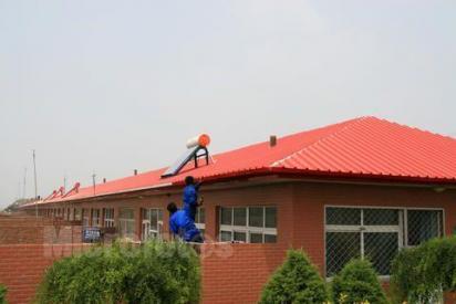 海淀区安装彩钢顶平房加钢架瓦顶遮阳防雨楼顶平台加盖安装彩