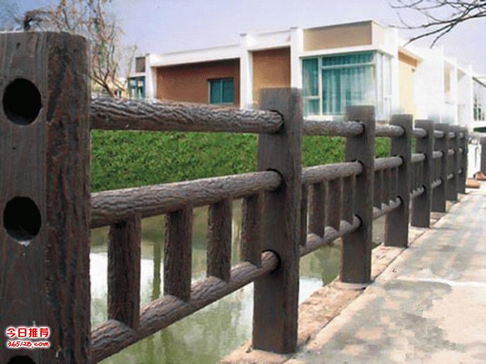 公司现有各种仿木栏杆、仿石栏杆、景观围栏、仿木地板、生态护岸桩等超高性价比景观材料。水泥仿木护栏以高标钢筋混凝土为主要原料添加其它轻骨材料凝合而成。具有色泽纹理逼真、坚固耐用、免维护、防偷盗等优点,与自然生态环境搭配非常和谐。仿木园林景观产品既能满足园林绿化设施及户外休闲的实用功能又美化了环境,深得用户喜爱。 仿木的性能 1、 外观精美:能以假乱真,从表面看起来,它就是木材。 2、 可塑性大:根据你的喜好、设计要求,就能制作出来,真真的是私人定制哟! 3、 材质生态:绿色环保节能,为国家节约木材,减伐森