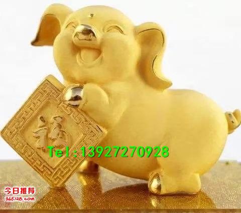 广州吉祥物卡通猪雕塑商场美陈春节金猪雕塑