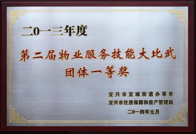 荣誉资质2013年第二届技能比武