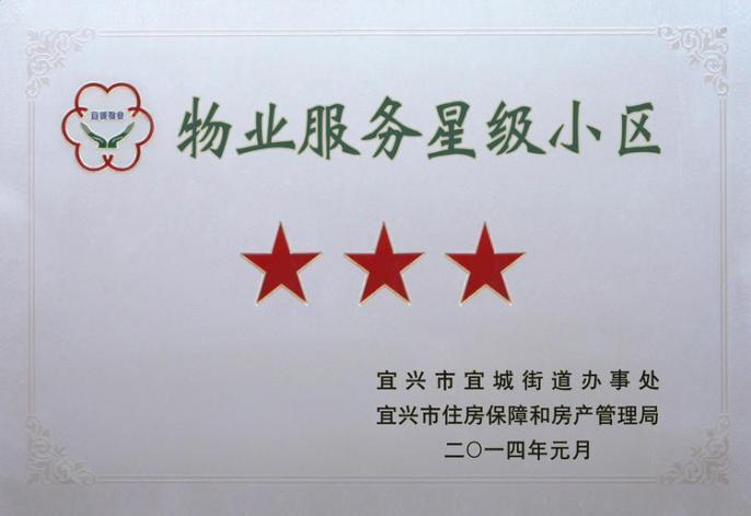 2014年宜兴市物业服务星级小区