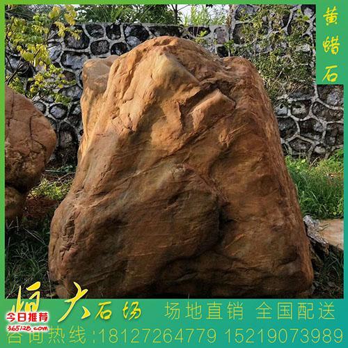 吨位大型黄蜡刻字石 恒大招牌黄蜡石HD-8866