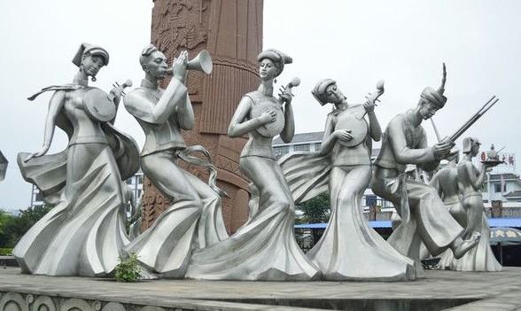 少数民族文化人物雕塑砂岩浮雕墙制作厂家