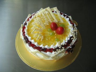 学习鲜奶蛋糕水果蛋糕生日蛋糕制作过程包会