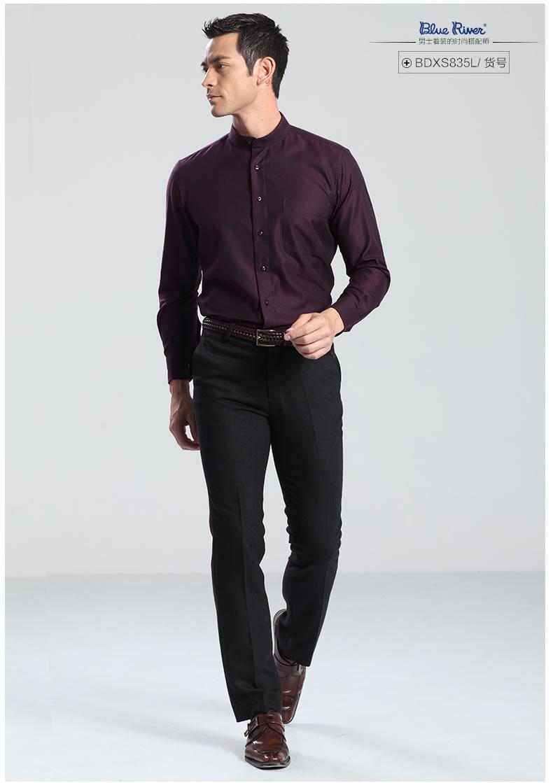 冬季款中华立领保暖衬衫男士 中华风加厚加绒... _服饰鞋包/男装