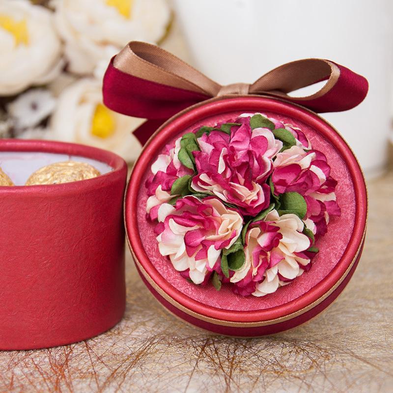 婚庆用品喜糖盒子批发创意圆筒包装盒中韩欧式糖盒礼盒糖袋yt012