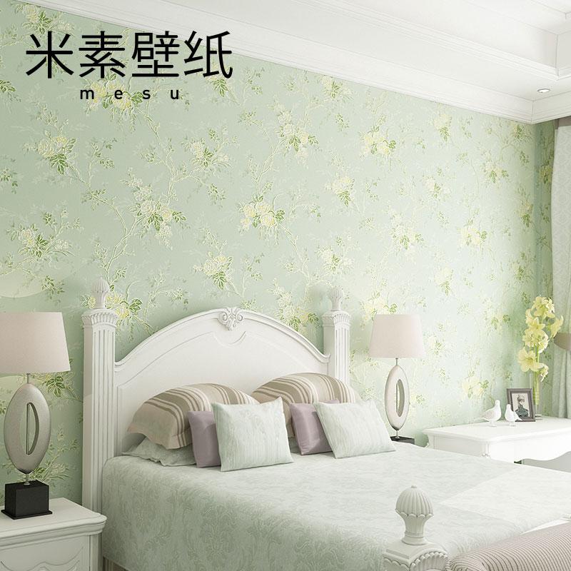 米素欧式田园壁纸 客厅墙纸 卧室背景壁纸 无纺布3d墙纸 杏雨梨云
