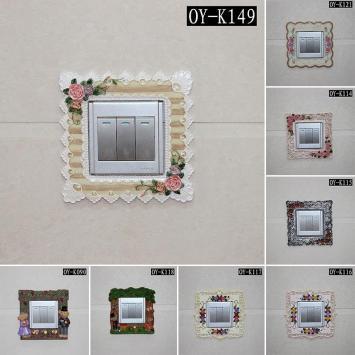 开关贴墙贴 开关套 欧式创意 树脂开关贴 插座装饰 开关装饰包邮