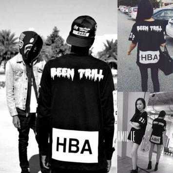 包邮2015新款hba  supreme短袖t恤全棉大码潮牌青少年男女装班服